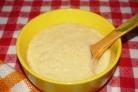 Кукурузная каша с сулугуни