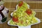 Салат с семгой соленой