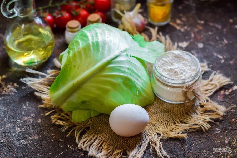 Ингредиенты для закуски из капусты