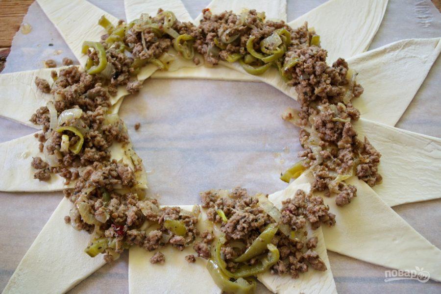 Как сделать пирог с фаршем и овощами