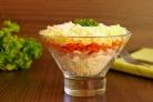 Салат с корейской морковкой и ветчиной