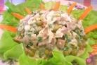 Салат по-деревенски с грибами