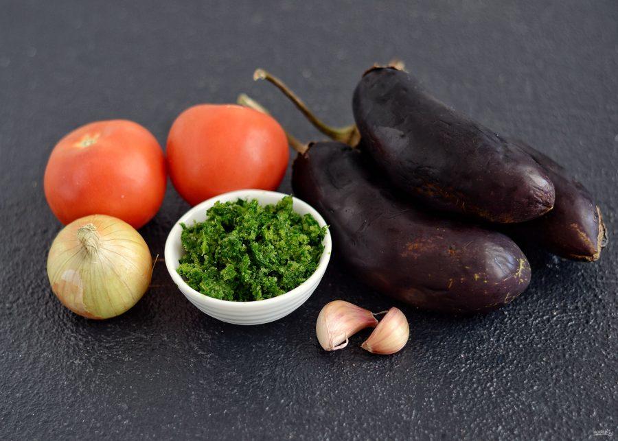 Ингредиенты для овощной закуски со шпинатом