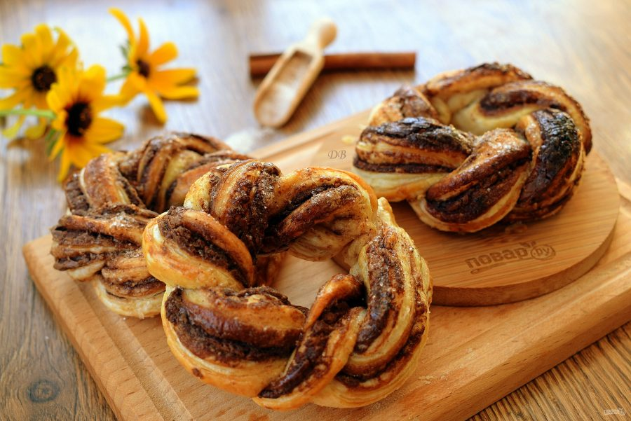 Крученые пончики с нутеллой