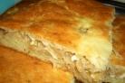 Пирог с капустой из творожного теста