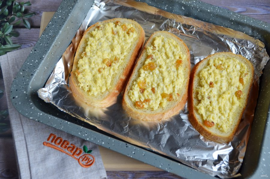Горячие бутерброды с творогом