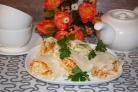 Овощной рулет из лаваша