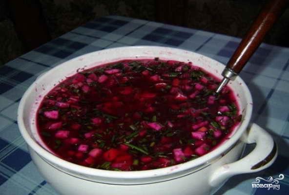 фото рецепт маринованной свеклы для холодного борща #12