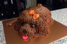 Торт в виде собаки
