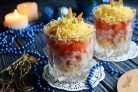 Новогодний салат в стакане за 5 минут