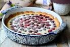 Малиновый пирог с творогом