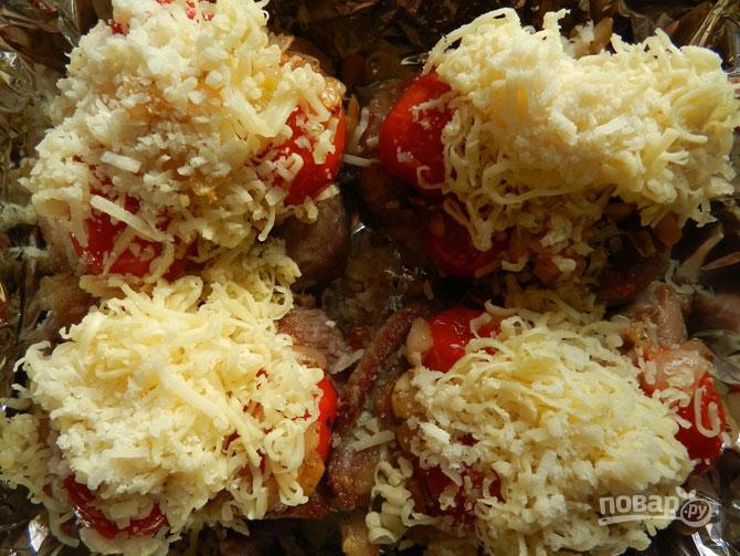 Индейка, запеченная под сыром