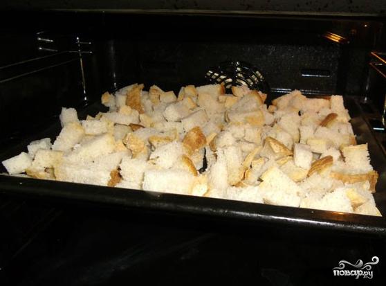 Как сделать сухарики в духовке фото 627