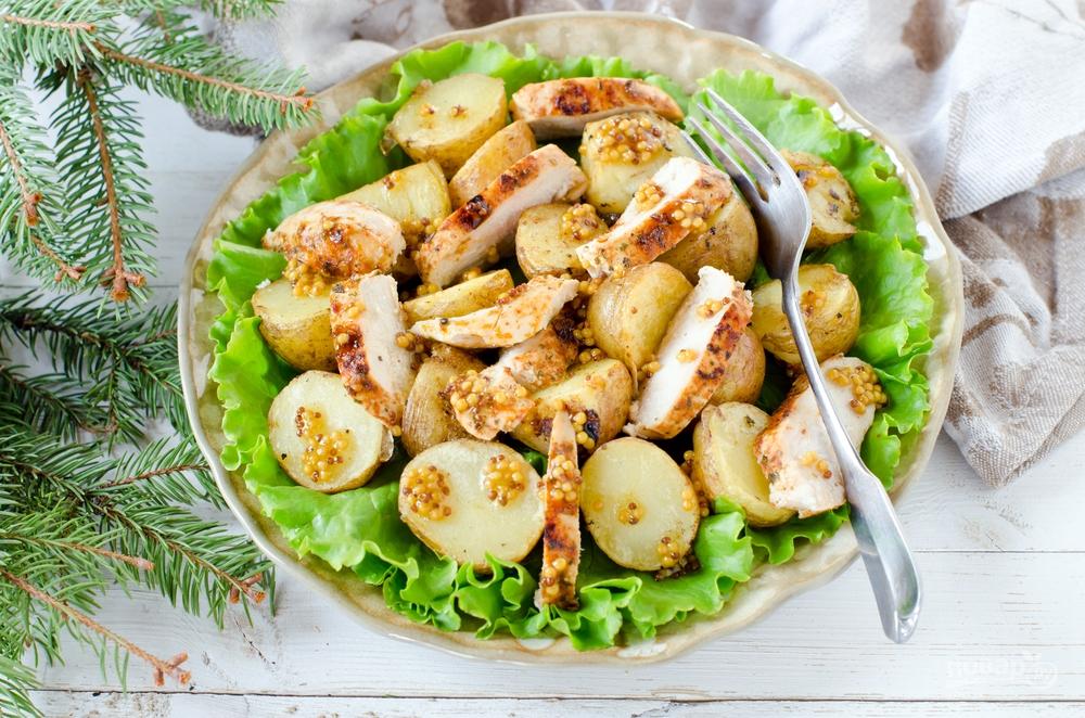 Салат из курицы с картошкой