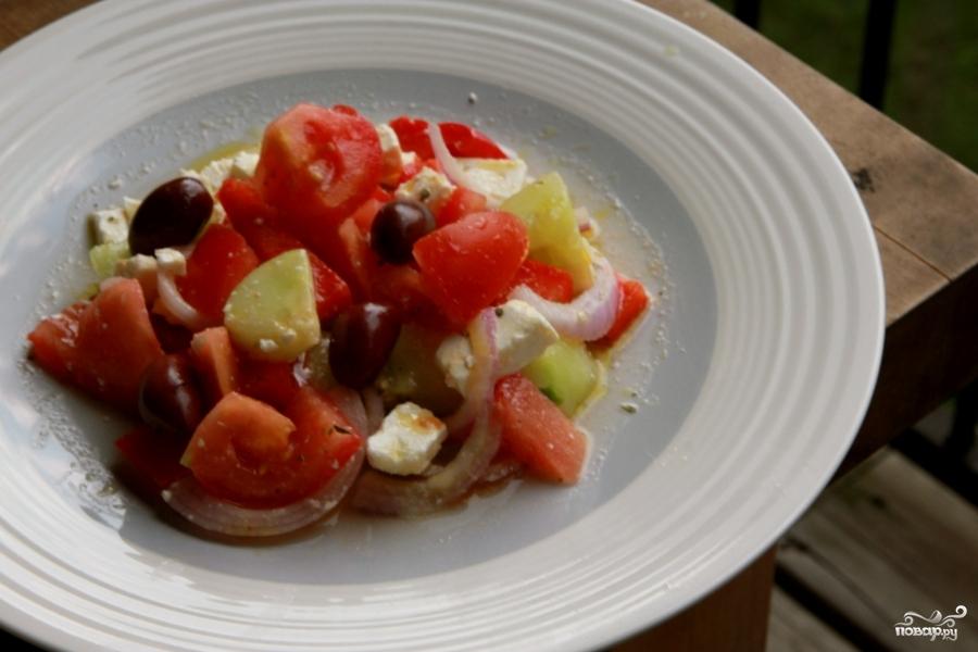 """Рецепт """"Греческий салат"""" рецепт классический"""