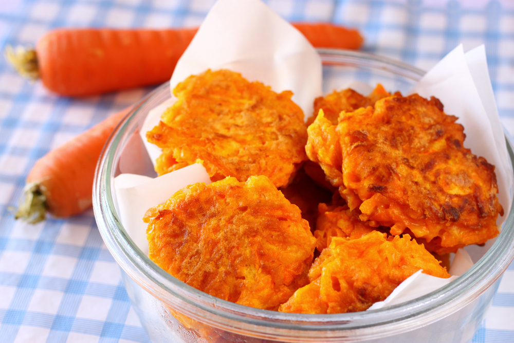 Блинчики из тертой моркови