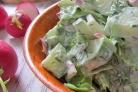 Салат из авокадо и редиса