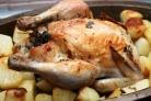 Запеченная курица с тимьяном