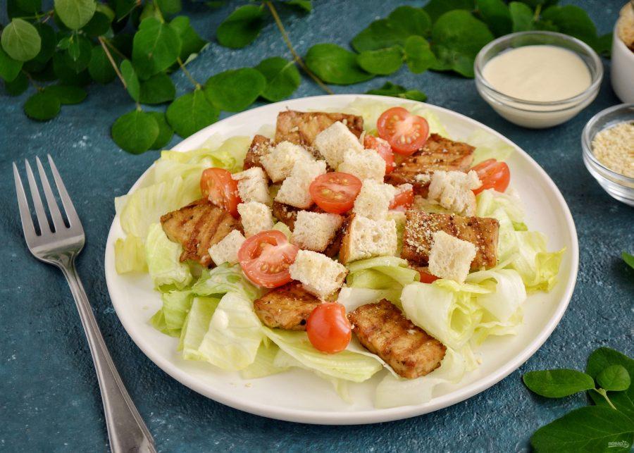 """Постный салат """"Цезарь"""""""