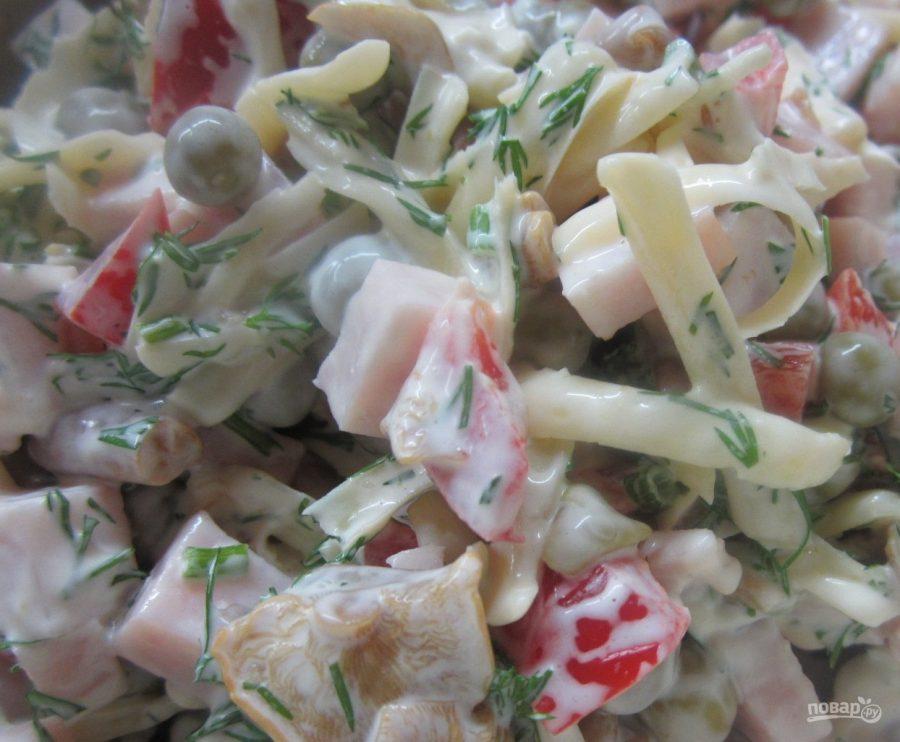 Салат из опят маринованных