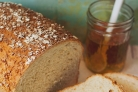 Медовый хлеб с овсяными хлопьями