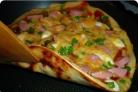 Пицца на сковороде с колбасой