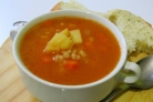 Томатный суп с перловкой