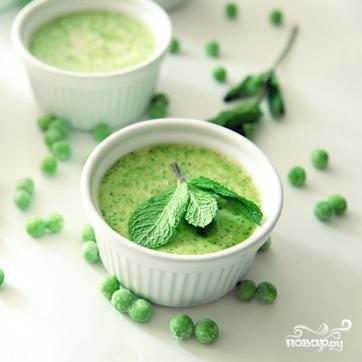 Флан из зеленого горошка