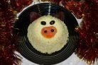 Рисовый салат на Новый год Свиньи