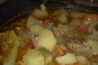 Баранина с баклажанами и помидорами