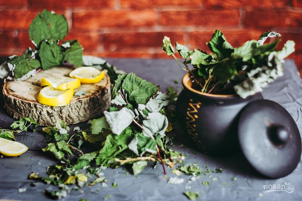 Сушеные листья смородины для чая