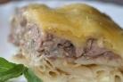 Макароны с ливерной колбасой