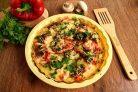 Диетическая куриная пицца без теста