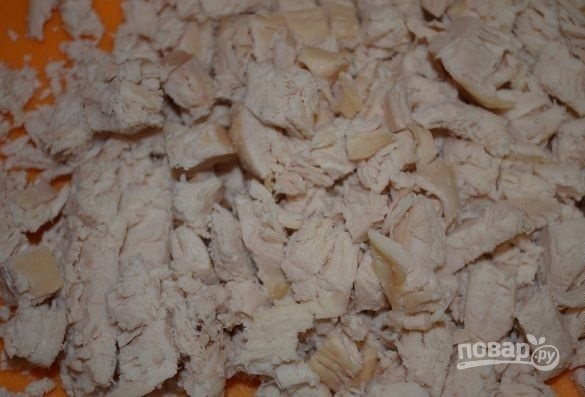 Куриный слоеный салат