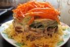 Cалат с корейской морковью и грибами