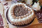 Торт Сердце из медовых коржей