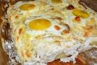 Картофельная запеканка с яйцом