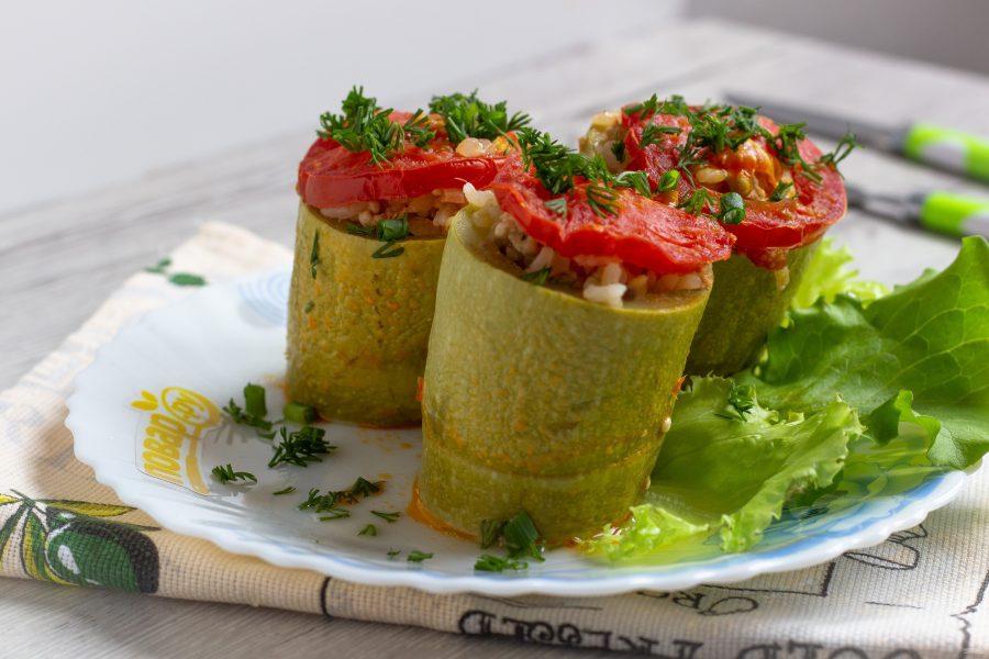 Фаршированные кабачки по турецкому рецепту