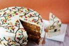Ореховый торт с кленовым кремом