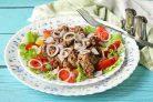 Салат с печенью и болгарским перцем