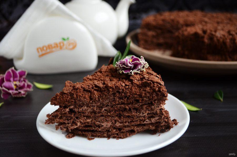 последнее торт наполеон шоколадный рецепт с фото отлично удовлетворяют мужика