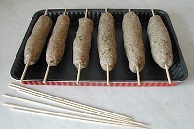 Люля-кебаб из индейки