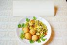 Рагу из молодых летних овощей с картофелем отварным