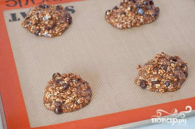 Овсяное печенье с кофе и шоколадом