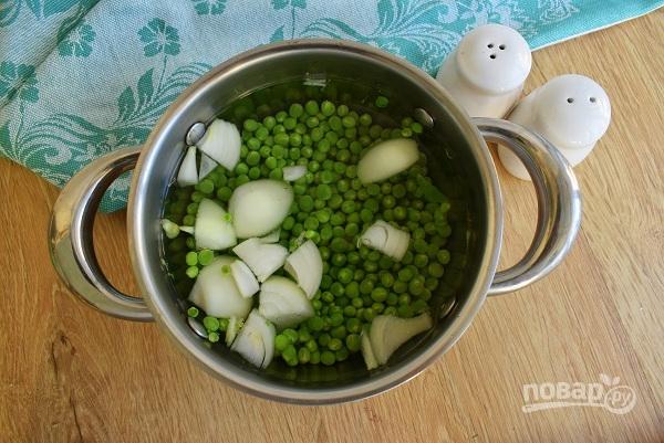 Суп из зеленого гороха