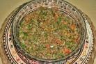 Салат с чечевицей и помидорами