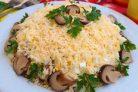 Салат с курицей шампиньонами и сыром