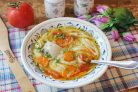 Суп с лапшой по-казачьи