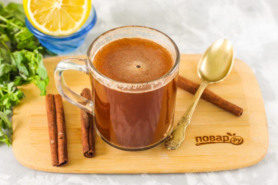 Чай с имбирем и корицей