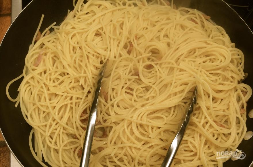 Как готовить спагетти на сковороде